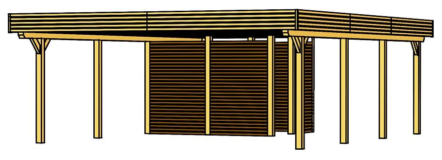 carport spessart 611 x 846 cm mit abstellraum 244829. Black Bedroom Furniture Sets. Home Design Ideas