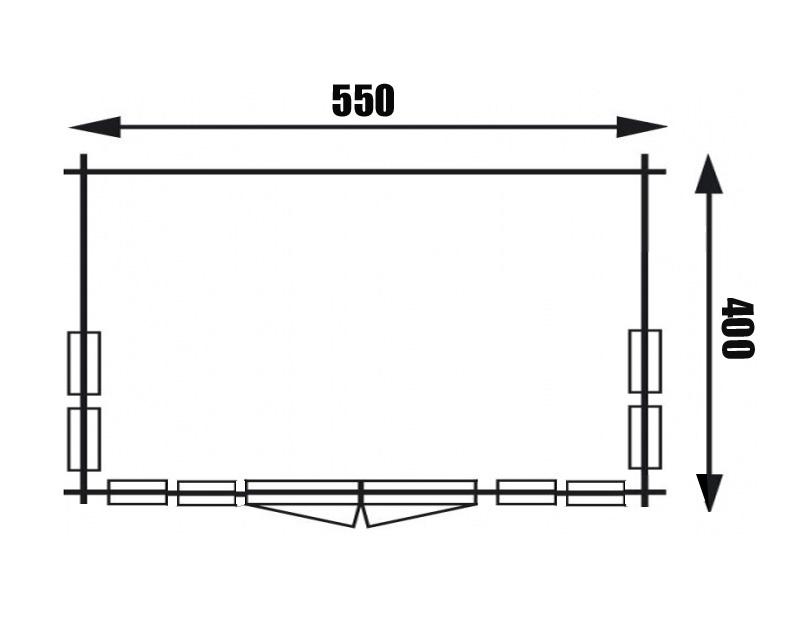 gartenhaus clockhouse xl 70mm. Black Bedroom Furniture Sets. Home Design Ideas
