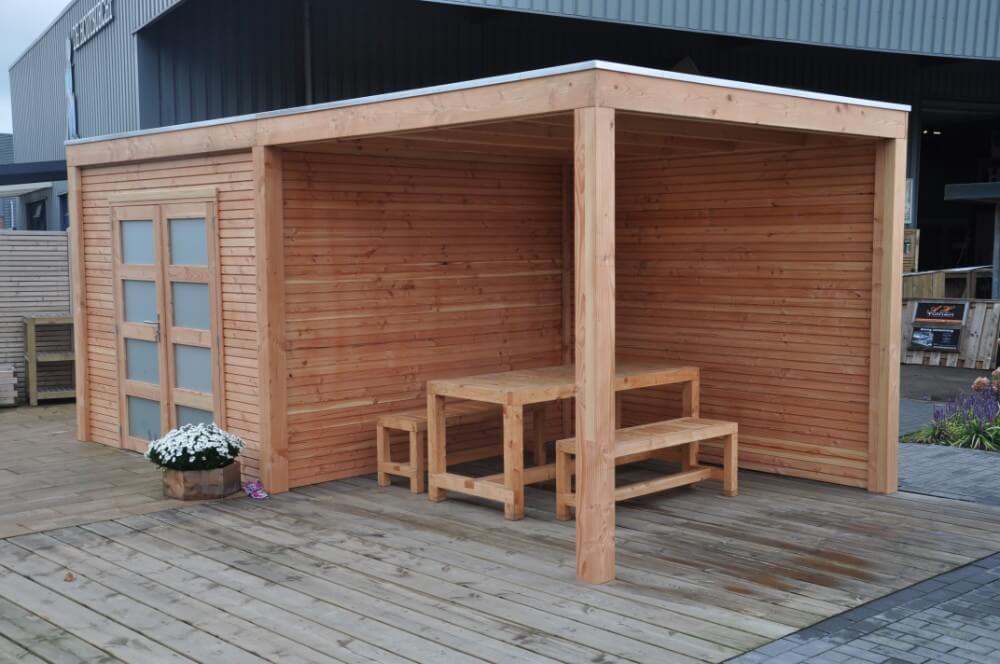 lasita maja gartenhaus adelaide mit anbau. Black Bedroom Furniture Sets. Home Design Ideas