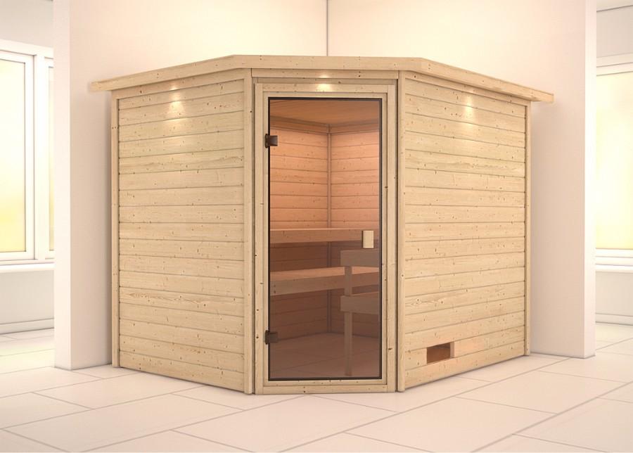 karibu sauna innenkabine leah. Black Bedroom Furniture Sets. Home Design Ideas