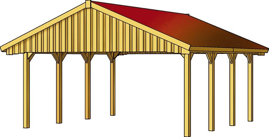 carport sauerland 620 x 600 cm mit dachschalung 322565. Black Bedroom Furniture Sets. Home Design Ideas