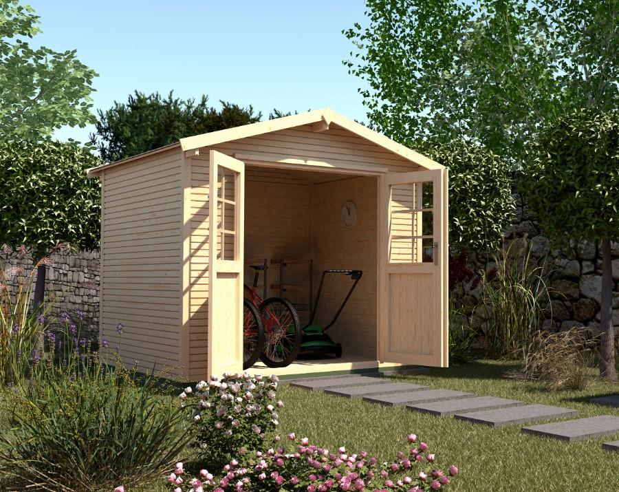 weka gartenhaus 218 gr 1 4. Black Bedroom Furniture Sets. Home Design Ideas