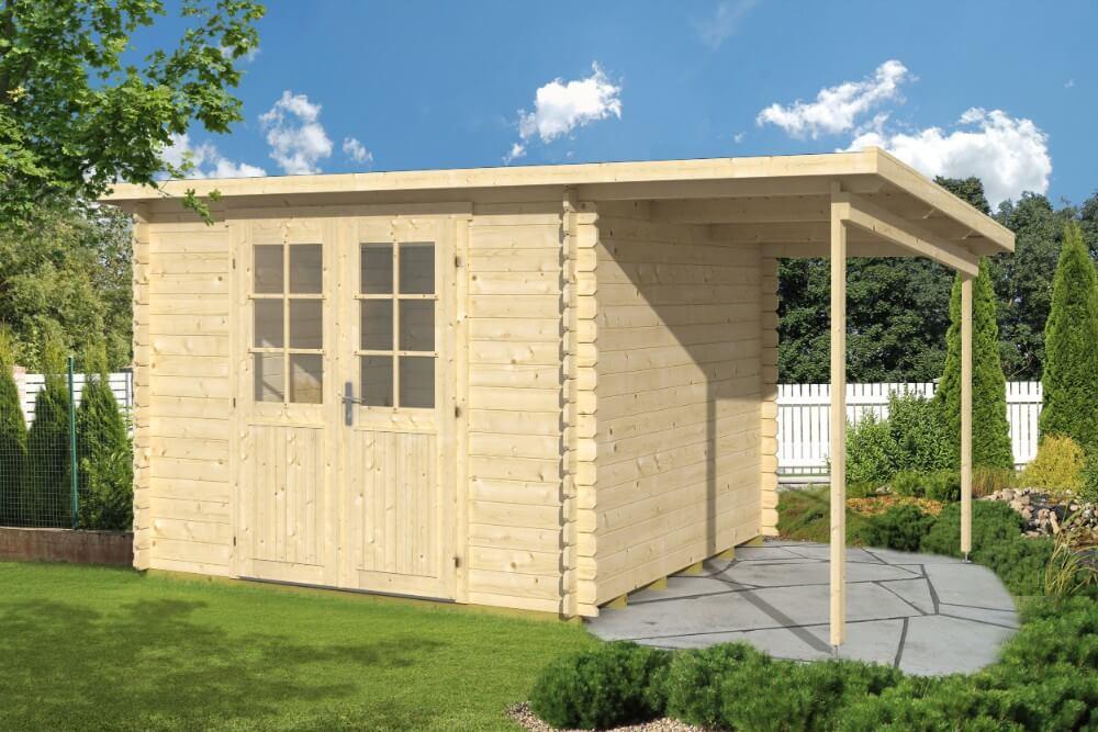 gartenhaus modell gloria a mit schleppdach. Black Bedroom Furniture Sets. Home Design Ideas