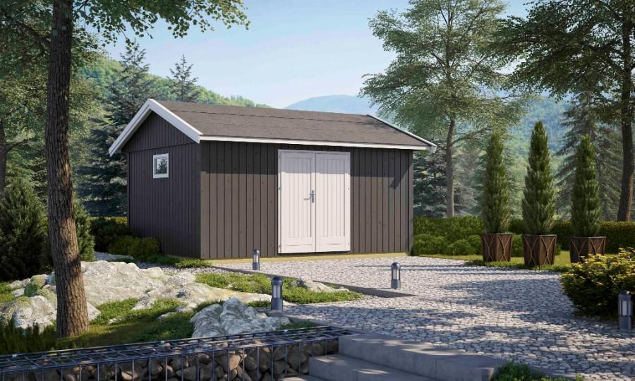 lasita maja gartenhaus nordic 15 double. Black Bedroom Furniture Sets. Home Design Ideas