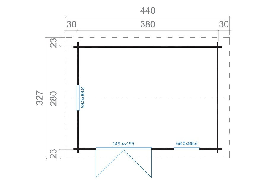 lasita maja gartenhaus devonshire iso 4413140. Black Bedroom Furniture Sets. Home Design Ideas