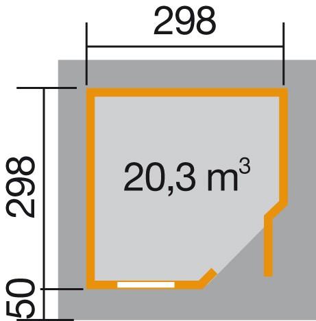 weka designhaus 213 gr 2 5 eck 28 mm. Black Bedroom Furniture Sets. Home Design Ideas