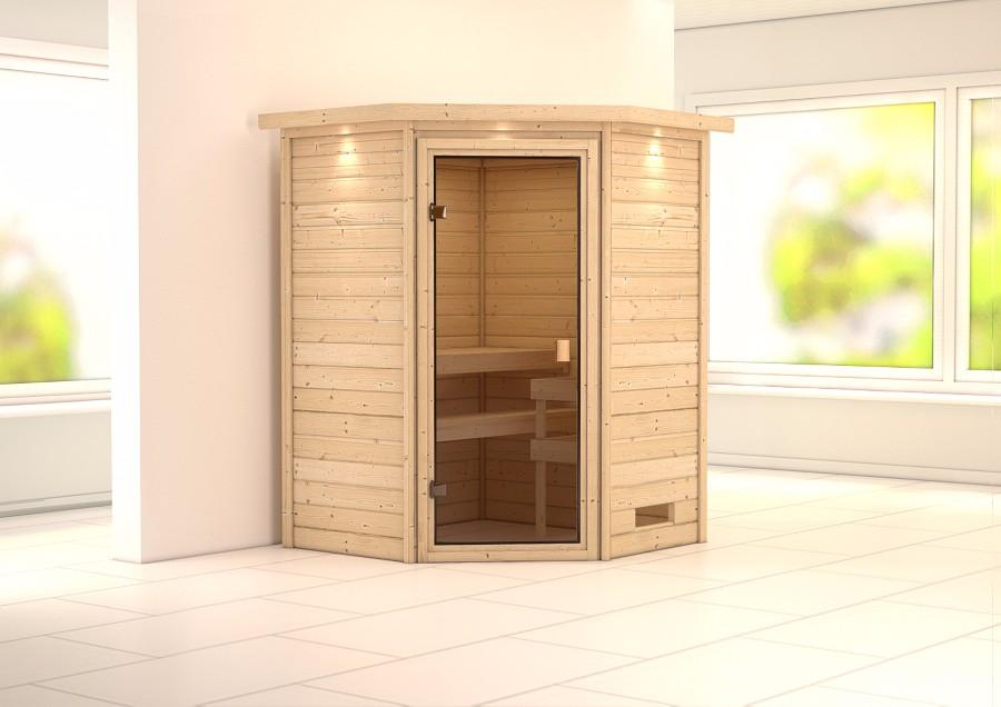 karibu sauna innenkabine aurel. Black Bedroom Furniture Sets. Home Design Ideas