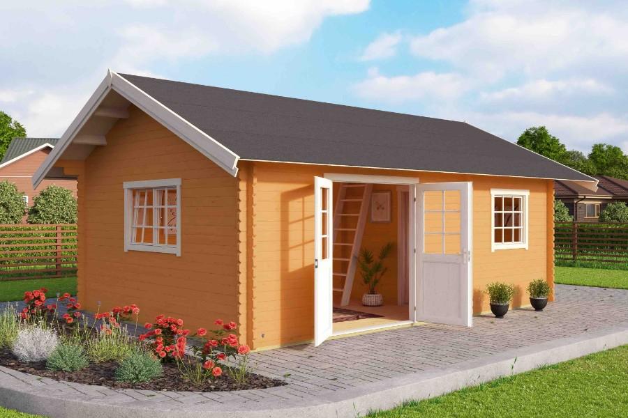 lasita maja gartenhaus caroline 40. Black Bedroom Furniture Sets. Home Design Ideas