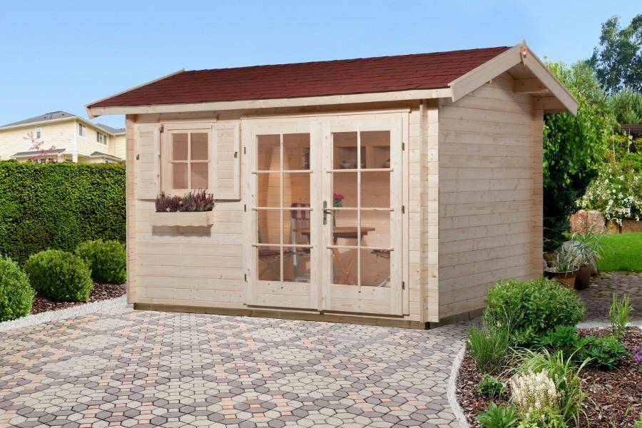 weka gartenhaus 163 gr 2 28 mm. Black Bedroom Furniture Sets. Home Design Ideas