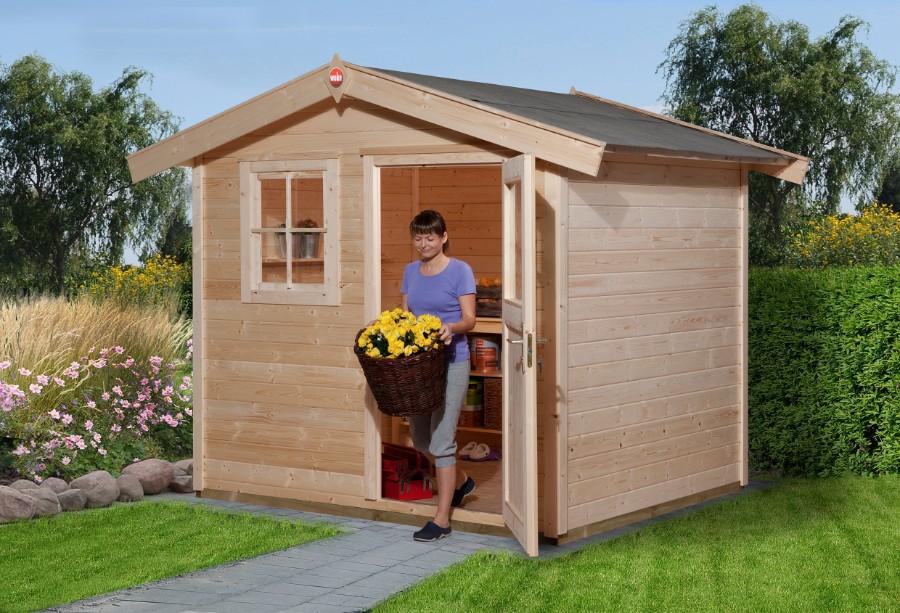 weka gartenhaus 123 gr 1 28 mm ohne boden. Black Bedroom Furniture Sets. Home Design Ideas