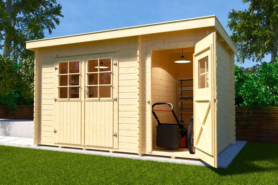 Weka gartenhaus 254 gr 1 2 - Gartenhaus mit 2 eingangen ...