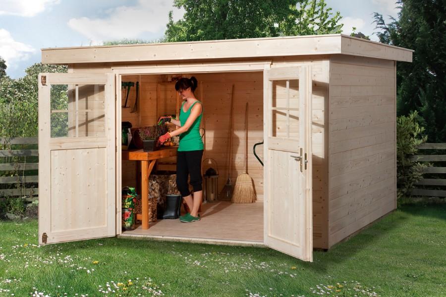weka gartenhaus 227 gr 3 21 mm. Black Bedroom Furniture Sets. Home Design Ideas
