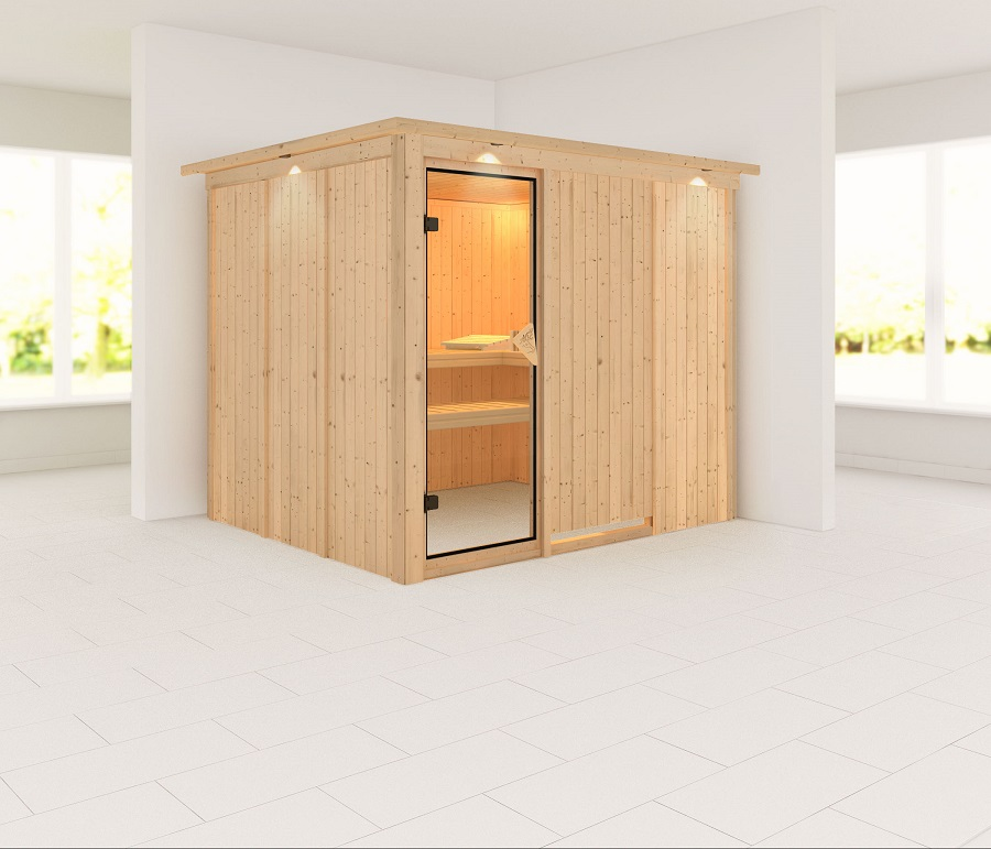 karibu sauna innenkabine gobin. Black Bedroom Furniture Sets. Home Design Ideas