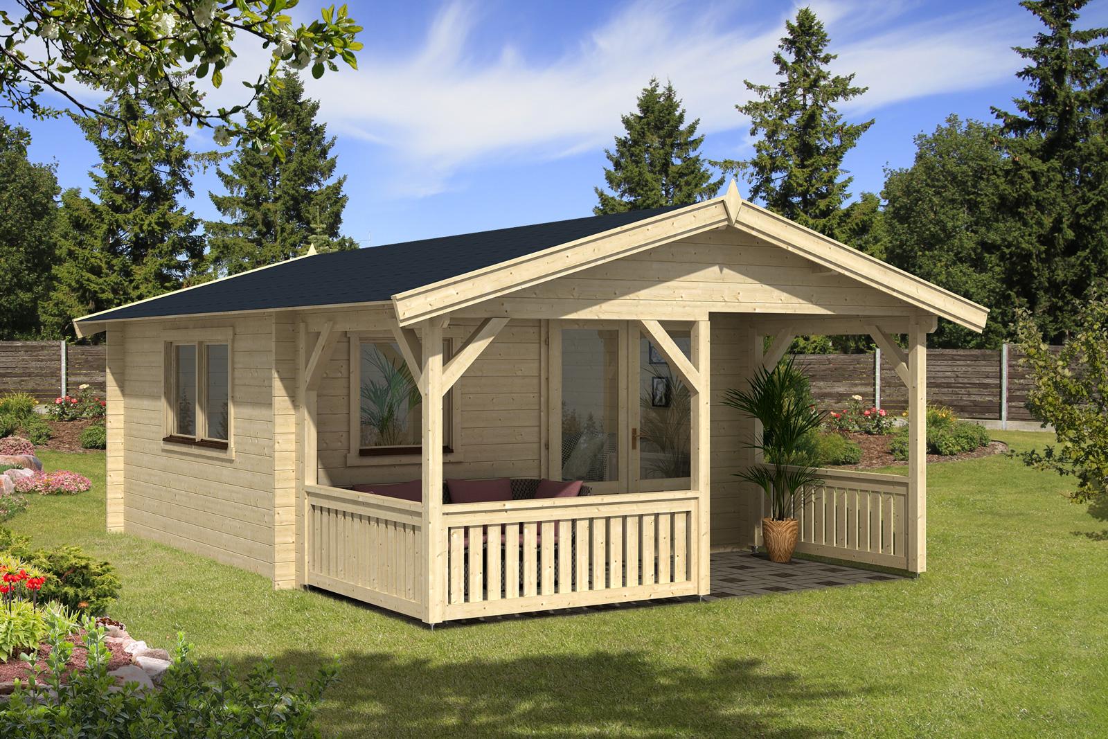 gartenhaus modell flex 50 b mit 200cm terrasse 4x4 2. Black Bedroom Furniture Sets. Home Design Ideas