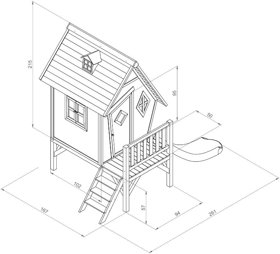 Spielhaus Cabin XL mit Rutschbahn