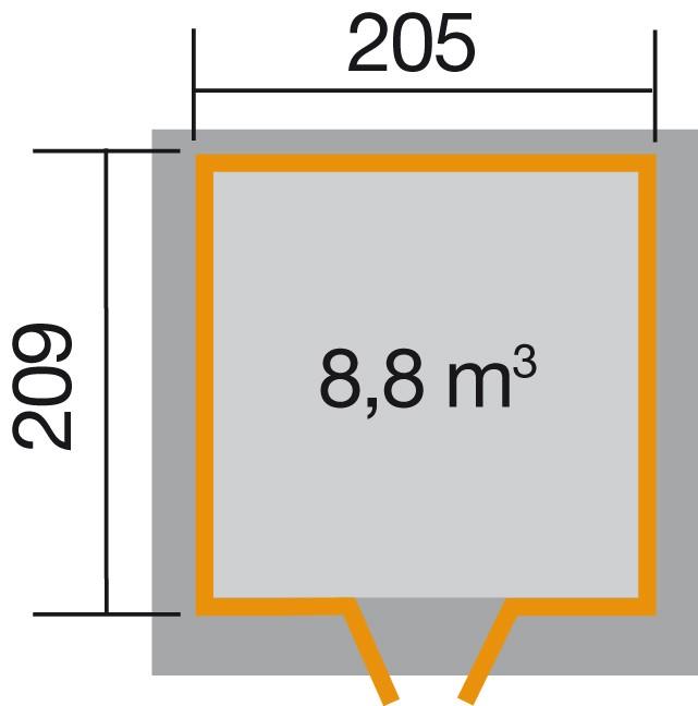 weka gartenhaus 227 gr 1 21 mm. Black Bedroom Furniture Sets. Home Design Ideas