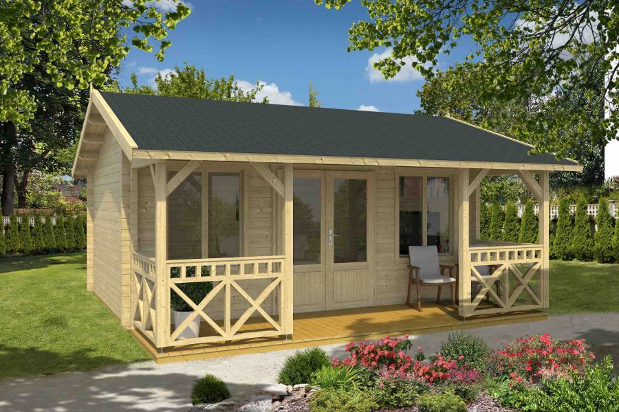 lasita maja gartenhaus staffordshire 1 44 iso. Black Bedroom Furniture Sets. Home Design Ideas