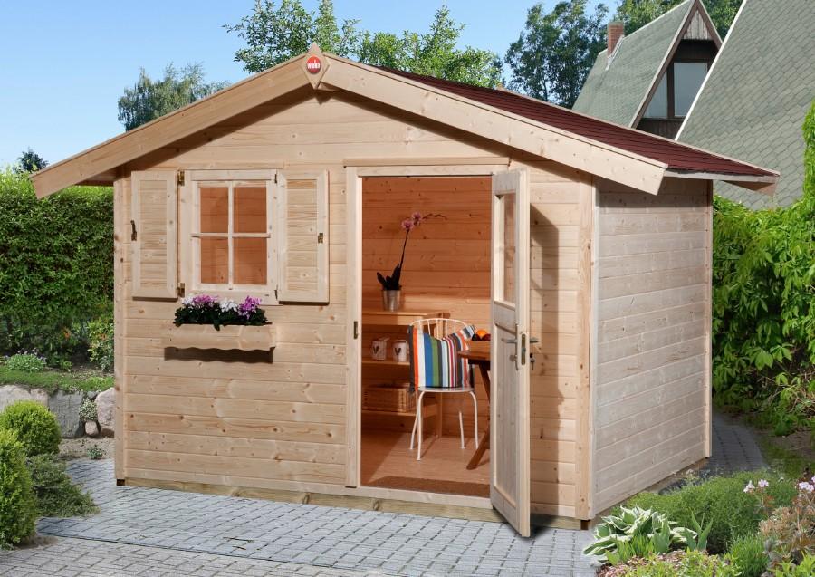 weka gartenhaus 123 gr 3 28 mm ohne boden. Black Bedroom Furniture Sets. Home Design Ideas