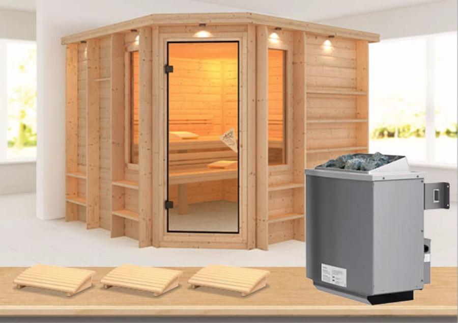 karibu sauna innenkabine marona. Black Bedroom Furniture Sets. Home Design Ideas
