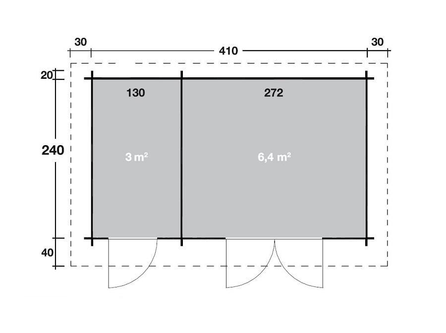 wolff 2 raum gartenhaus amrum 28 528 260. Black Bedroom Furniture Sets. Home Design Ideas