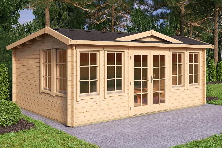 lasita maja gartenhaus balmoral iso 4417040. Black Bedroom Furniture Sets. Home Design Ideas