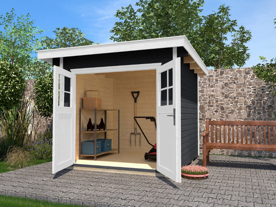 mh gartenhaus 240 x 209 cm. Black Bedroom Furniture Sets. Home Design Ideas