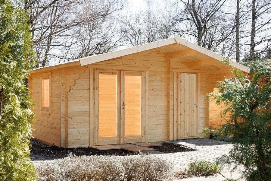 wolff 2 raum gartenhaus caro 34 modern 834 555. Black Bedroom Furniture Sets. Home Design Ideas