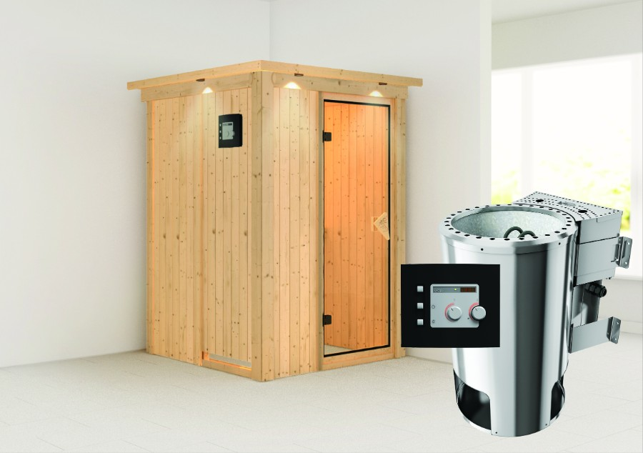 karibu sauna innenkabine lenja. Black Bedroom Furniture Sets. Home Design Ideas