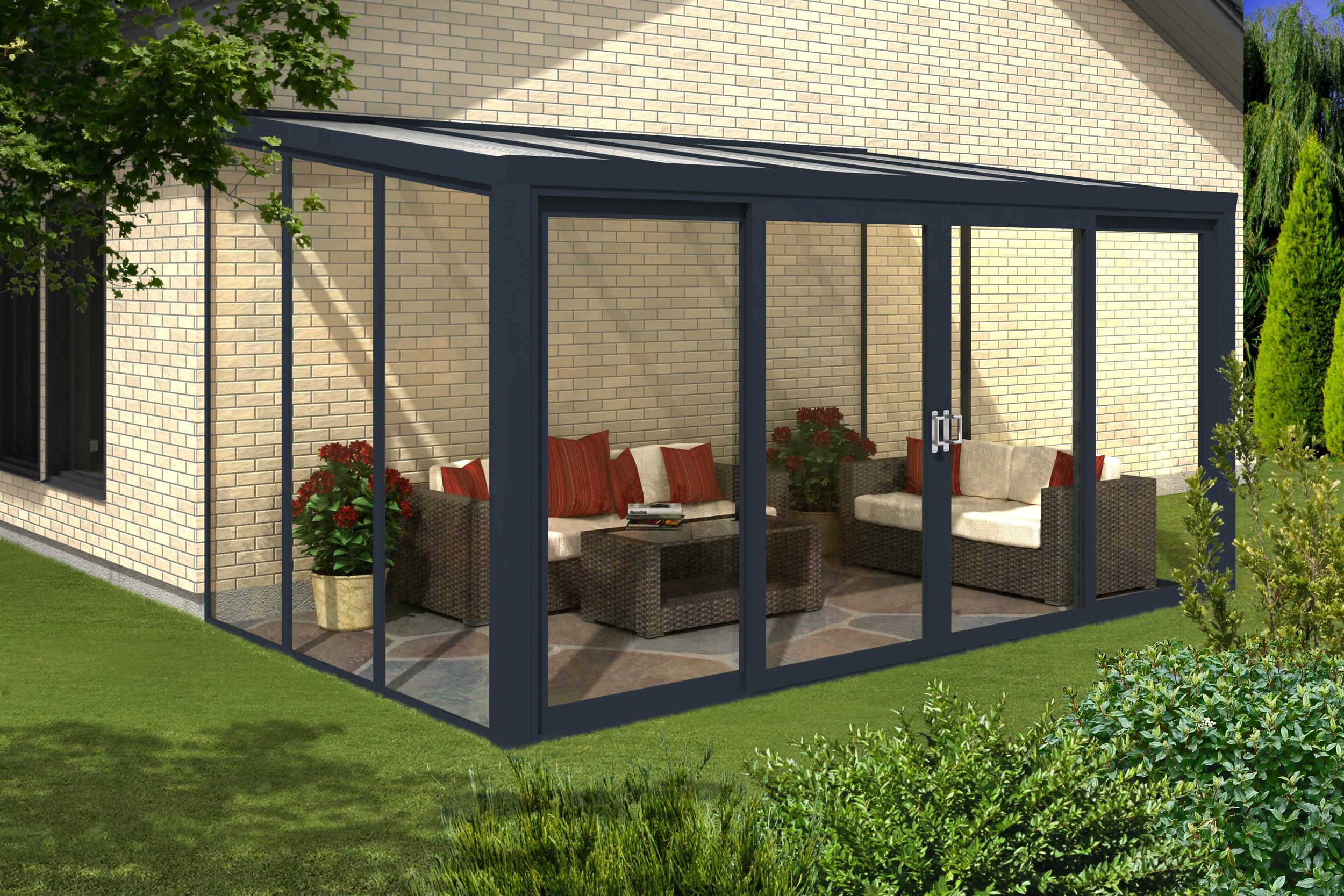 Gartenzimmer 600 X 350 Cm Mit 4 Teiliger Schiebet R