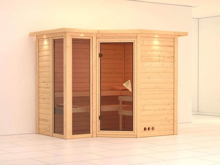 karibu sauna innenkabine amara. Black Bedroom Furniture Sets. Home Design Ideas