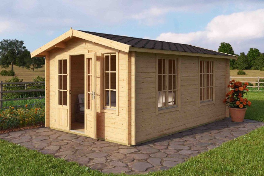 lasita maja gartenhaus alexandra iso. Black Bedroom Furniture Sets. Home Design Ideas