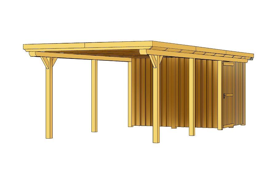 carport emsland 354 x 846 cm mit abstellraum. Black Bedroom Furniture Sets. Home Design Ideas