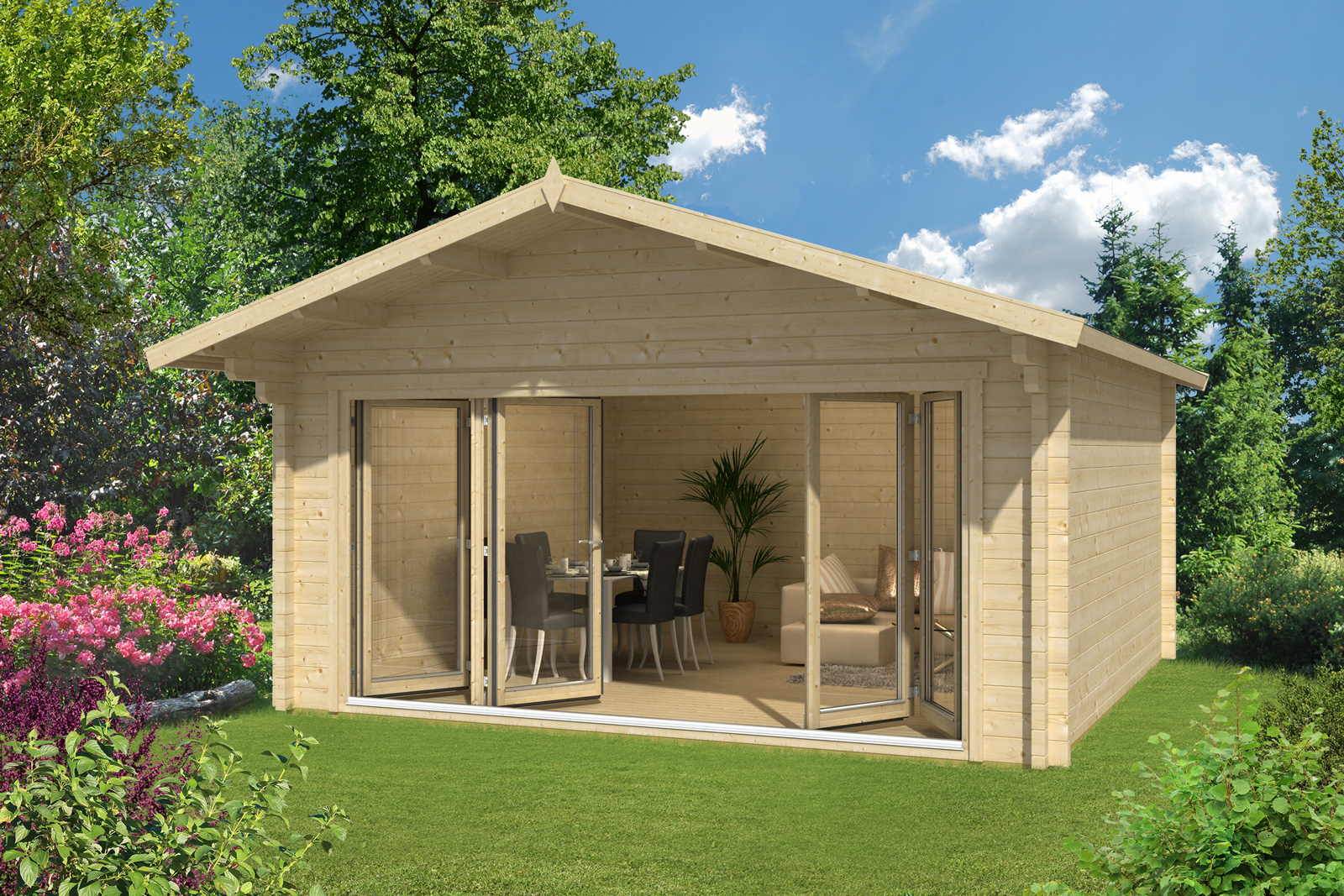 gartenhaus enzian 70 premium. Black Bedroom Furniture Sets. Home Design Ideas