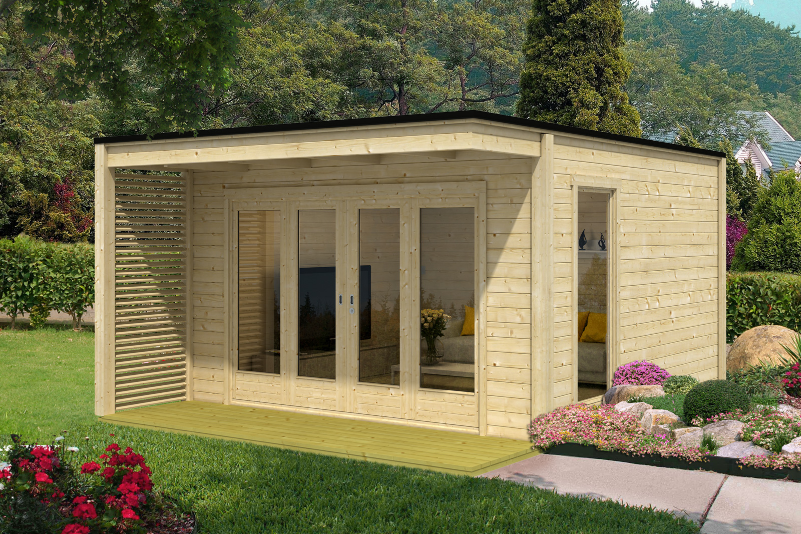 design gartenhaus cubus vio 40. Black Bedroom Furniture Sets. Home Design Ideas