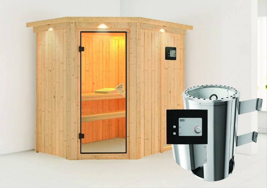 karibu sauna innenkabine saja. Black Bedroom Furniture Sets. Home Design Ideas