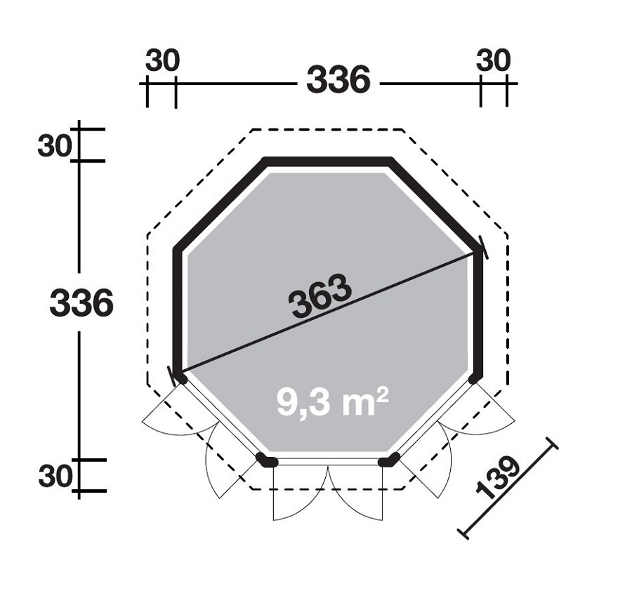 wolff gartenpavillon ibiza 42 a 660 110. Black Bedroom Furniture Sets. Home Design Ideas