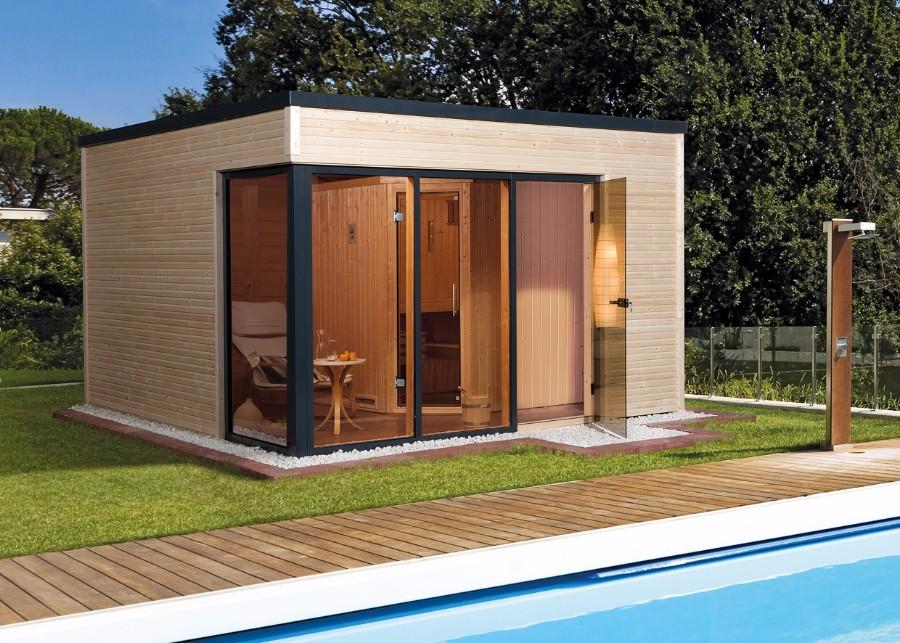 weka design saunahaus cubilis. Black Bedroom Furniture Sets. Home Design Ideas