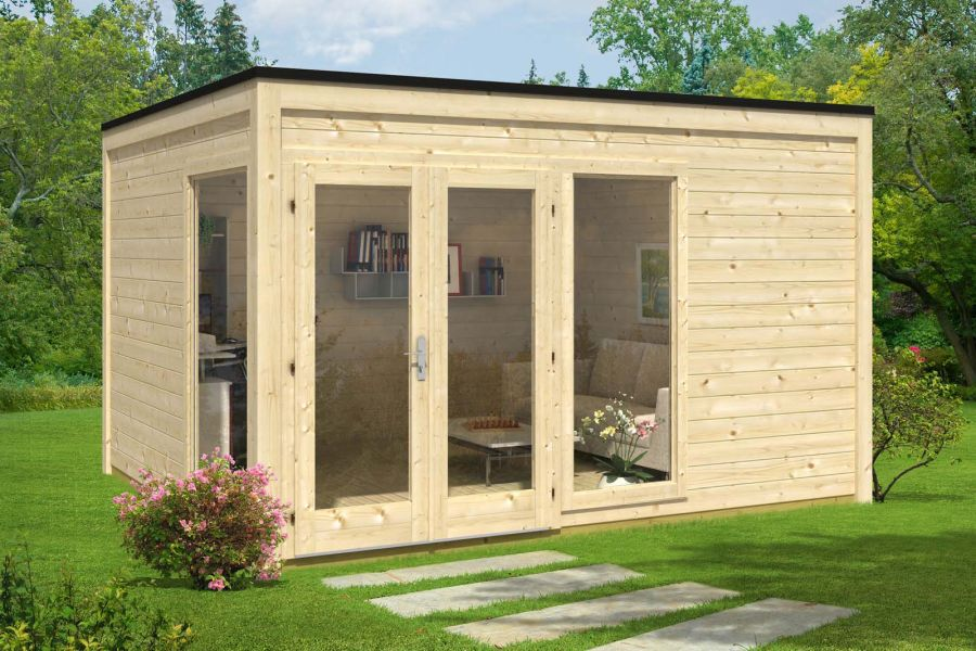 design gartenhaus cubus 4035. Black Bedroom Furniture Sets. Home Design Ideas