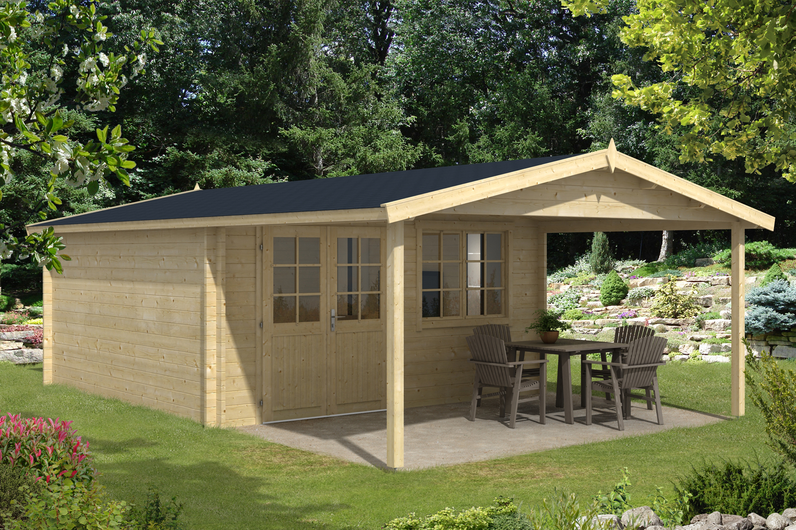 Gartenhaus jakob 44 iso gartenhaus jakob 44 iso - Gartenhaus mit 2 eingangen ...