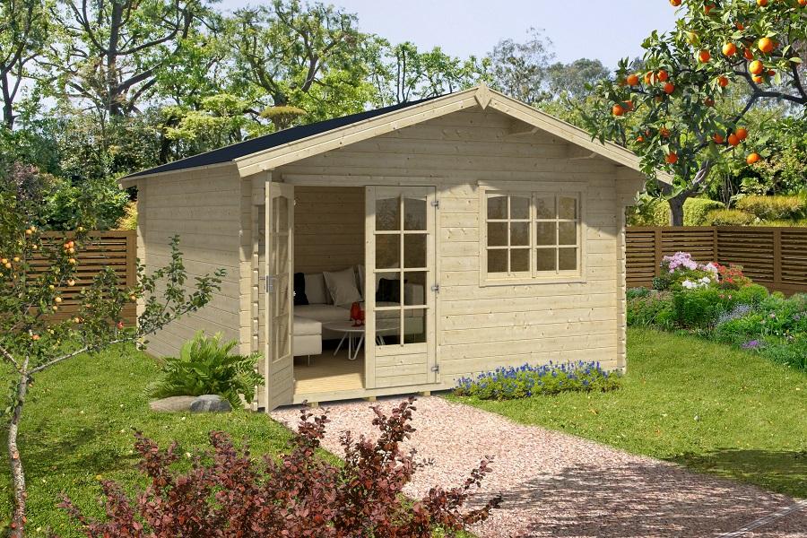 lasita maja gartenhaus montana 431379. Black Bedroom Furniture Sets. Home Design Ideas