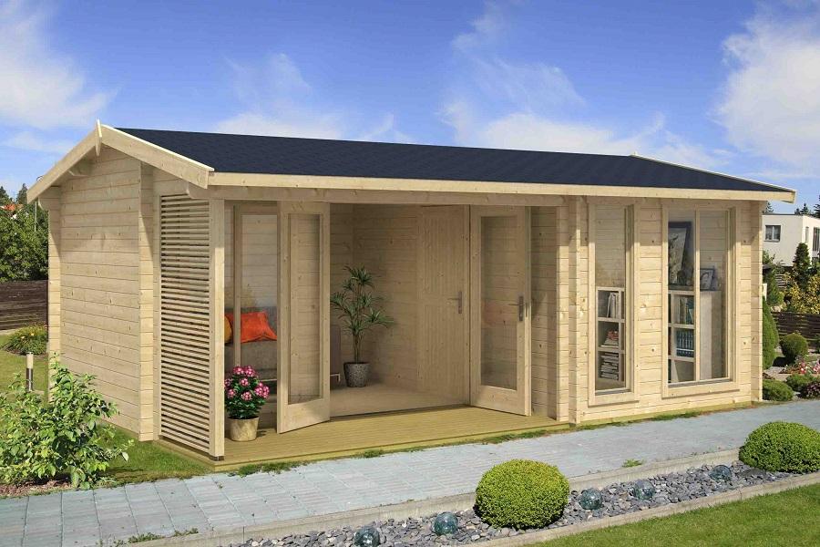 lasita maja gartenhaus montrose iso 4419902. Black Bedroom Furniture Sets. Home Design Ideas