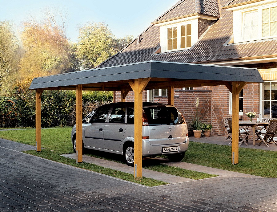 carport wendland 409 x 870 cm mit abstellraum. Black Bedroom Furniture Sets. Home Design Ideas