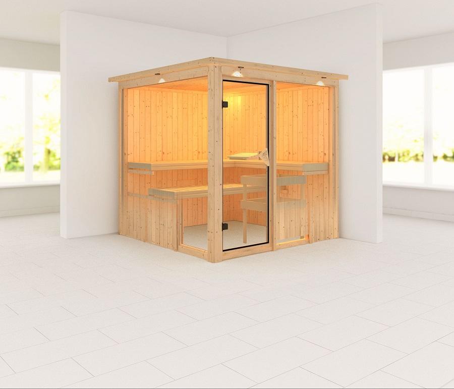 karibu sauna innenkabine helin. Black Bedroom Furniture Sets. Home Design Ideas