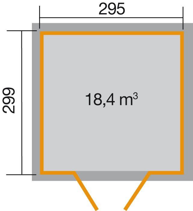 weka gartenhaus 226 gr 4 21 mm. Black Bedroom Furniture Sets. Home Design Ideas