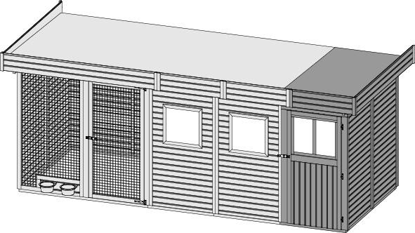 karibu hundezwinger 4. Black Bedroom Furniture Sets. Home Design Ideas
