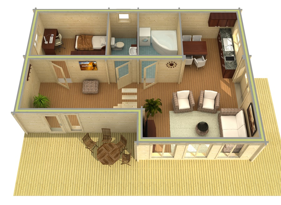 lasita maja ferien und freizeithaus mekong iso. Black Bedroom Furniture Sets. Home Design Ideas