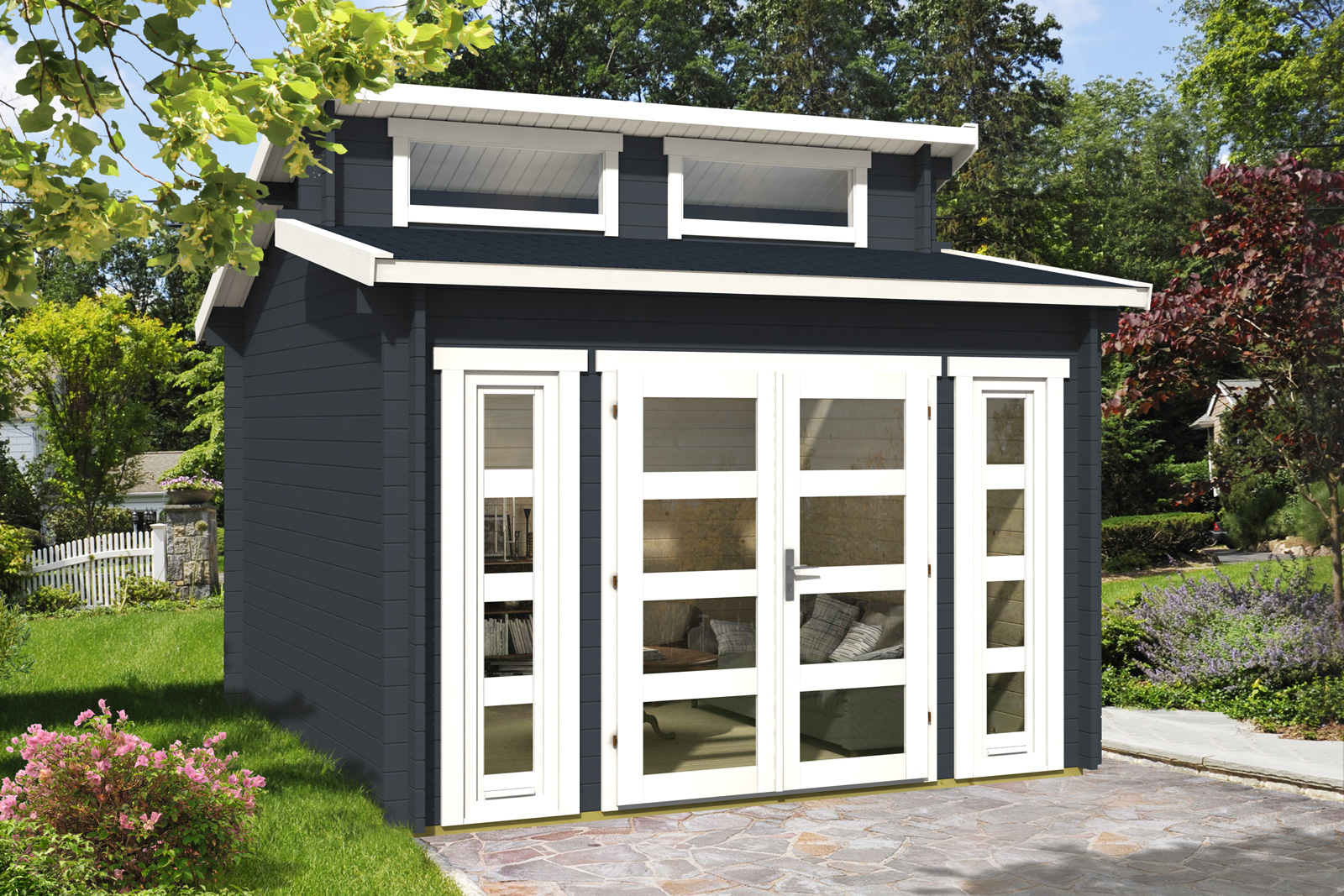 doppel pultdach gartenhaus modell vinea 40. Black Bedroom Furniture Sets. Home Design Ideas