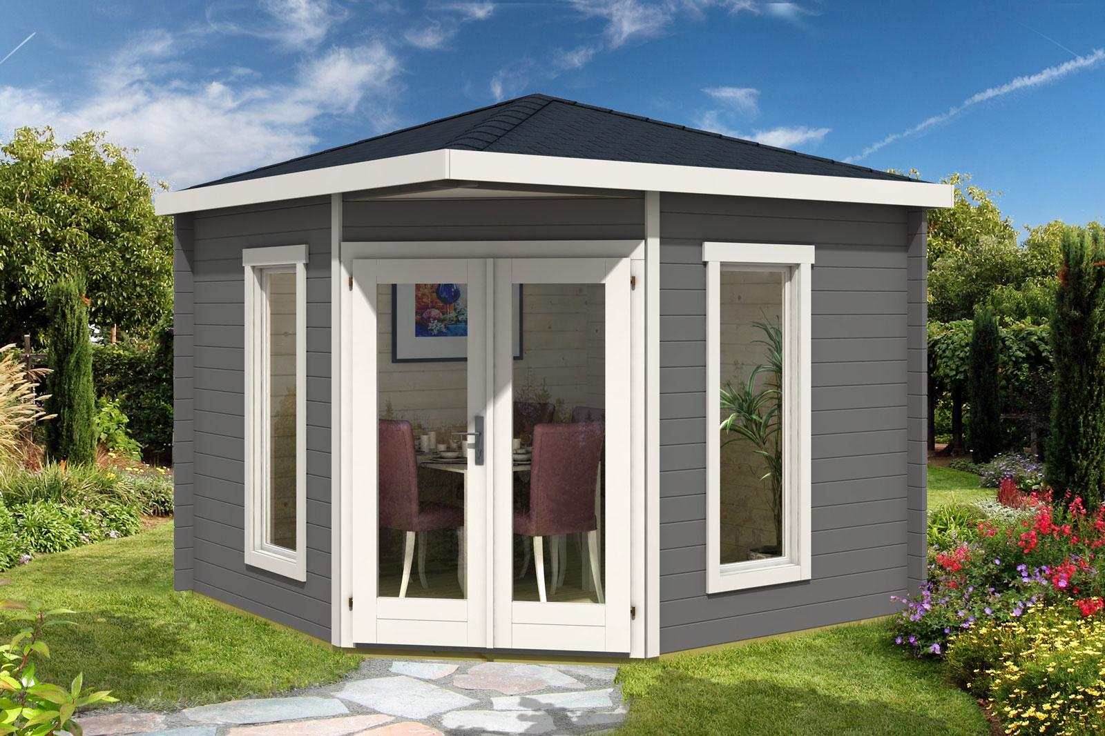 5 eck gartenhaus modell mika 40 a. Black Bedroom Furniture Sets. Home Design Ideas