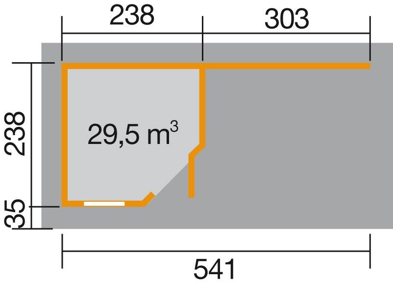 weka designhaus 213 b gr 1 5 eck 28 mm. Black Bedroom Furniture Sets. Home Design Ideas