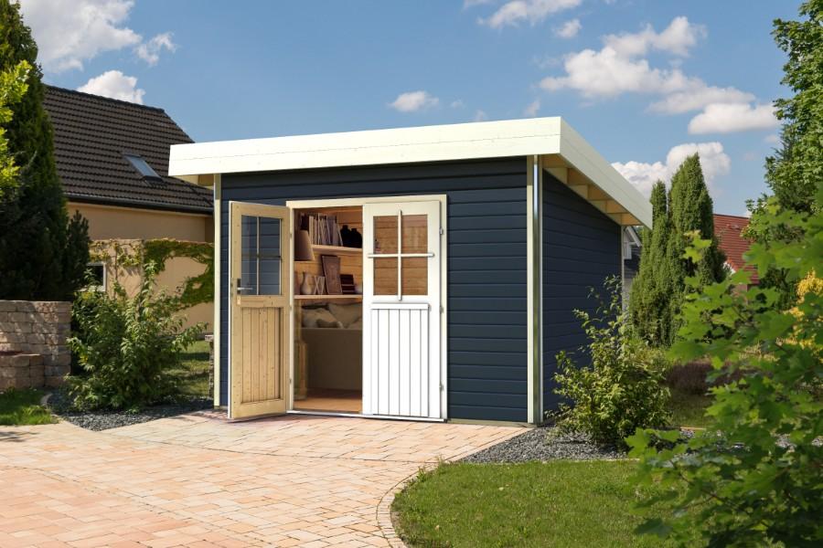 karibu gartenhaus moosburg 3. Black Bedroom Furniture Sets. Home Design Ideas